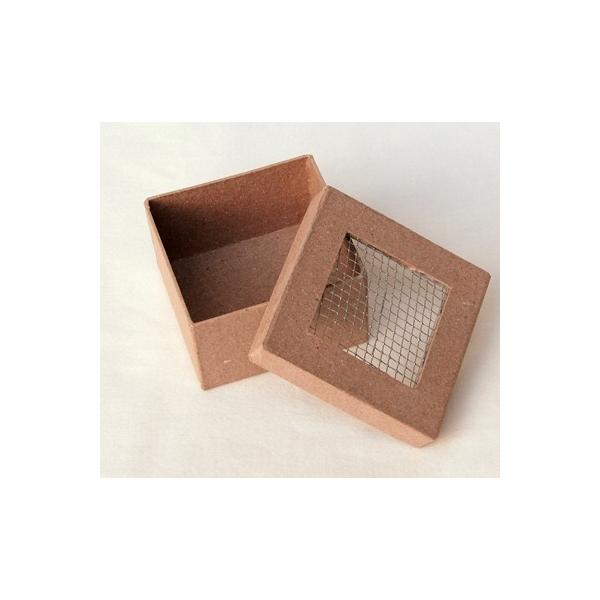 Boite d corer carr e grillage decopatch maison pratic boutique pour vos loisirs creatifs - Decorer une boite en carton ...
