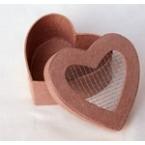 boîte coeur grillage à décorer