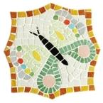 Kit mosaique Dessous de plat papillon