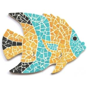 Kit mosaico artistico pesce fai da te maison pratic for Disegni per mosaici da stampare