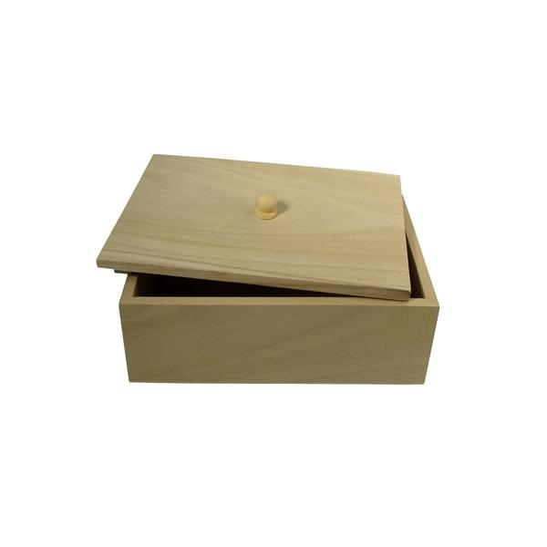 bo te sucre rectangulaire bois maison pratic boutique pour vos loisirs creatifs et votre deco. Black Bedroom Furniture Sets. Home Design Ideas