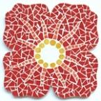 Kit mosaïque fleur rouge