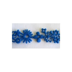 Ruban deco feutrine bleu