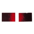 Mosaique miroir rouge 10x15mm 40 tesselles