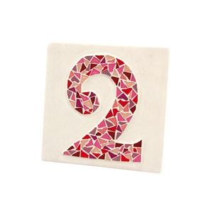 Kit mosaico artistico numero di via fai da te rosa for Mosaico fai da te
