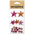 Cabochon Decopatch Etoiles Rose Orange