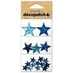 Cabochon Decopatch Etoile Turquoise et bleu