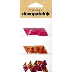 Cabochons Triangle Rose orange