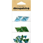 Cabochons Decopatch Triangle turquoise jade