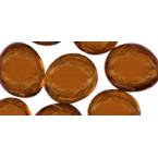 Petites perles de verre marron
