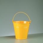 Seau en zinc jaune