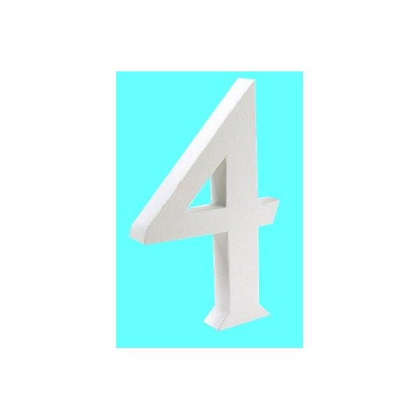 lettre 3d en carton 4 maison pratic boutique pour vos loisirs creatifs et votre deco. Black Bedroom Furniture Sets. Home Design Ideas