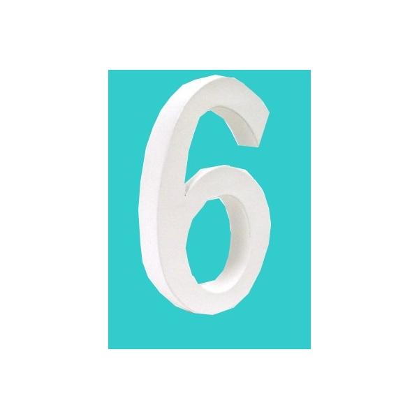 lettre 3d en carton 6 maison pratic boutique pour vos loisirs creatifs et votre deco. Black Bedroom Furniture Sets. Home Design Ideas
