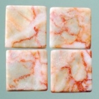 Mosaique romaine 20x20mm rouge marbré blanc