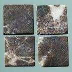 Mosaique romaine 20x20mm Brun marbré blanc