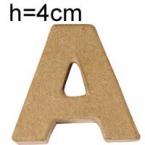 Lettre 3D en carton 4cm