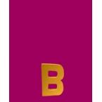 Lettre 3D B en carton 4cm