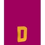 Lettre 3D D en carton 4cm