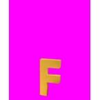 Lettre 3D F en carton 4cm