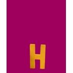 Lettre 3D H en carton 4cm