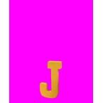Lettre 3D J en carton 4cm