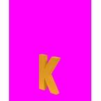 Lettre 3D K en carton 4cm