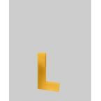 Lettre 3D L en carton 4cm