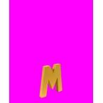 Lettre 3D M en carton 4cm