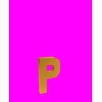 Lettre 3D P en carton 4cm