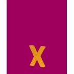 Lettre 3D X en carton 4cm