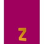 Lettre 3D Z en carton 4cm