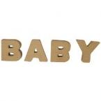 Lettre 3D BABY 4cm
