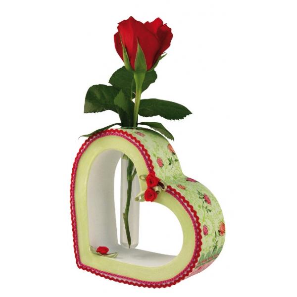 Grand vase coeur avec eprouvette maison pratic Objets pour decorer votre bureau