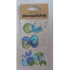 Cabochons Decopatch Lune Turquoise Jade