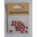 Cabochons Decopatch mini coeurs