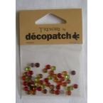 Cabochons Decopatch mini rond ambre