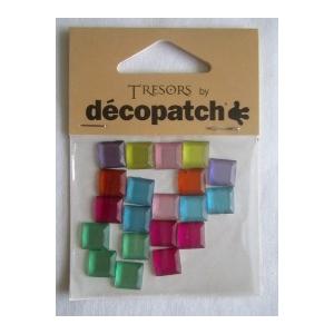 Cabochons Decopatch mini carrés