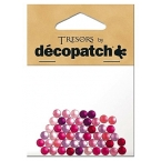 Cabochons Decopatch mini ronds rose