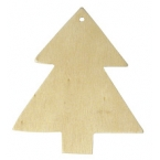 Lot de 2 sapins bois pour suspension Noel