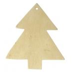 Lot de 2 sapins bois pour suspension Noel