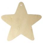 Lot de 2 étoiles bois pour suspension Noel