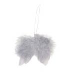 Ailes d'anges en plumes gris 5cm
