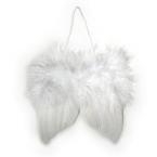 Ailes d'anges en plumes blanc 10cm