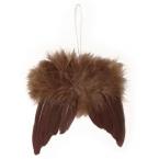 Ailes d'anges en plumes chocolat 10cm