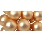 12 Mini Baies de Noel en verre ivoire mat