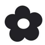 Support ardoise fleur