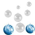 8 boules transparentes