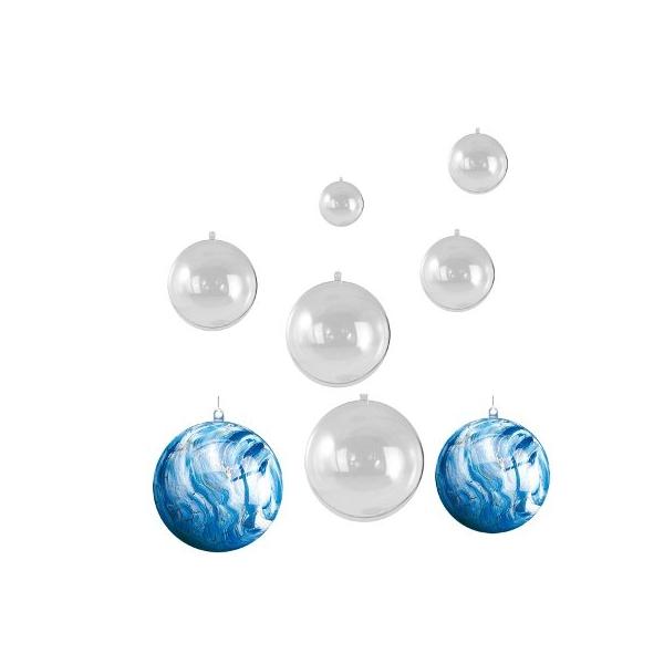 8 boules transparentes maison pratic boutique pour vos loisirs creatifs et votre deco - Boule transparente deco noel ...