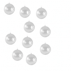 Lot 10 boules transparentes 5 cm