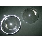 3 Boules transparentes 7cm